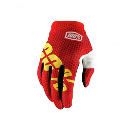 100% !TRACK GLOVE - FIRE RED